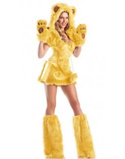 Gul Bjørn Kostume Halloween Dyrekostumer