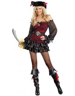 Dyrebar Booty Pirat Kostume til Kvinder