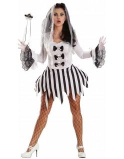 Sexet Halloween Zombie Brude Kostume
