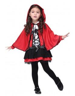 Børn Lille Rødhætte Kostume
