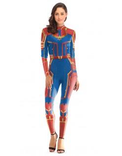 Avengers Kree Kaptajn Marvel Kostume Voksen Rød