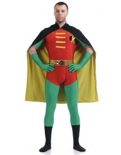 Lycra Spandex Robin Kostume Rød Og Grøn