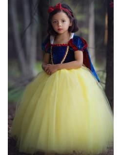 Sød Halloween Prinsessekjole Snehvide Kostume til Børn