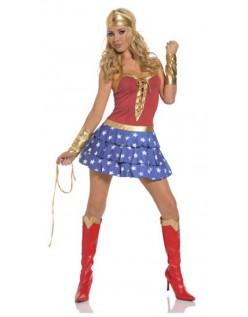 Rød og Blå Wonder Woman Kostume