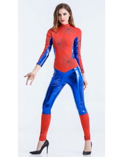 Blå Spidergirl Kostume Superhelte Kostume Jumpsuit