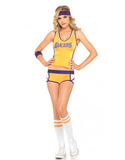 Gul Lakers Basketball Frække Cheerleader Kostume