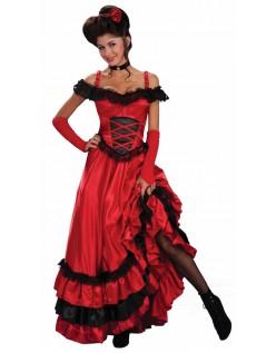 Saloon Kæreste Can Can Kostume