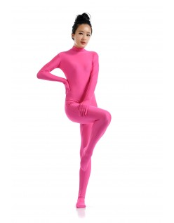 Lycra Spandex Skinsuits til Dame Second Skin Kostume Lyserød