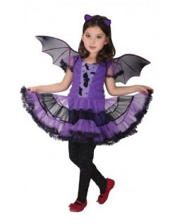 Fed Halloween Bat Kostume Til Piger