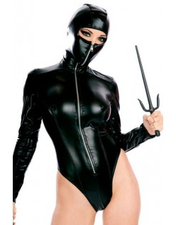 Giftig Hætteklædte Ninja Kostume Teddy PU