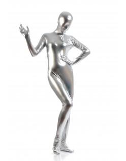 Morphsuits Kvinder All Inclusive Metallic Skinnende Dragt Sølv