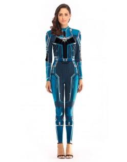 Avengers Kree Kaptajn Marvel Kostume Voksen Blå