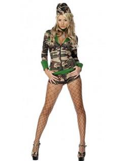 Frække Kamp Camo Chick Militær Kostume