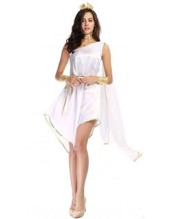 Romersk Kostume Hvid Græsk Gudinde Kostume