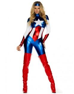 Skønhed Superhelte Kostume Captain America Kostume