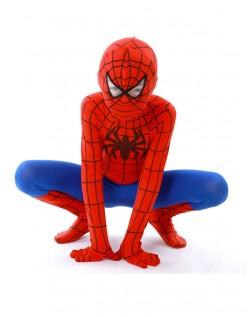 Klassisk Lycra Spiderman Kostume Til Børn Rød