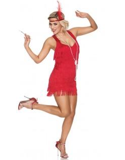 1920 Kostume Rød Blonde Flapper Kostume