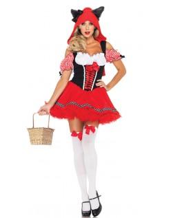 Halloween Frække Lille Rødhætte Kostume