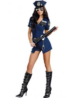 Officer Sheila.B Frække Deluxe Politi Kostume