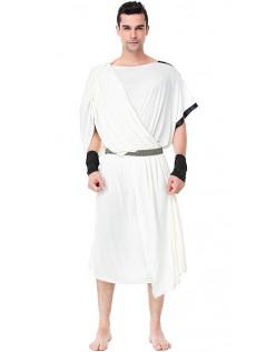 Græsk Romersk Toga Kostume Til Mænd