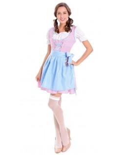 Dirndl Tyrolerkjole Oktoberfest Kostume Blå