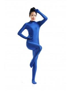 Lycra Spandex Skinsuits til Dame Second Skin Kostume Blå