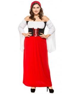 Miss Swiss Tyroler Kostume Store Størrelser Tyroler Kostume Rød