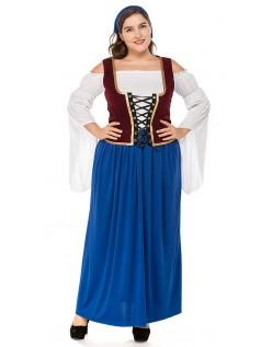 Miss Swiss Tyroler Kostume Store Størrelser Oktoberkjole Blå