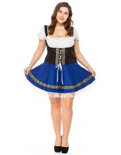 Blå Tyroler Kostumer Store Størrelser Kvinder