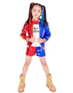 Børn Suicide Squad Harley Quinn Kostume Print Sæt