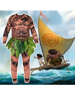 Maui Kostume til Børn Film Vaiana Moana Prinsesse Kostumer