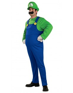 Deluxe Super Mario Bros Luigi Kostume til Voksne