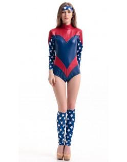Frække Romper Captain America Kostume