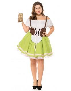 Tysk Gretchen Tyroler Kostume Store Størrelser Kvinder