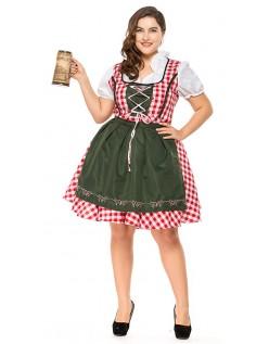 Traditionel Lang Tyroler Kostume Store Størrelser Oktoberfestkjole
