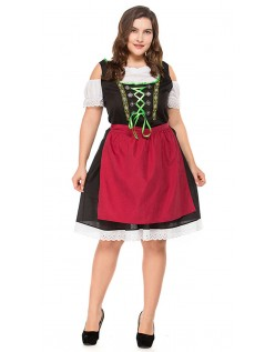 Bayersk Tyroler Kostume Store Størrelser Dirndl Heidi Kjole