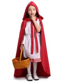 Deluxe Børn Lille Rødhætte Kostume til Halloween