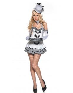Frække Hvid Cigaret Pige Kostume