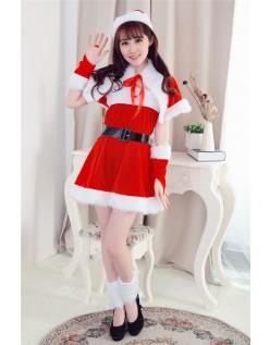 Rød Båd Hals Jule Kostume til Kvinder