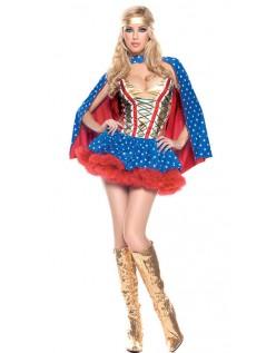 Frække Superhelte Pige Wonder Woman Kostume