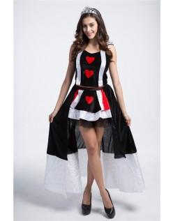 Fortryllende Hjerterdronning Kostume Alice i Eventyrland