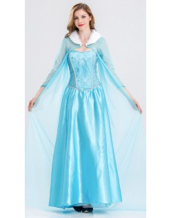 Mesh Frost Elsa Prinsessekjole Voksen