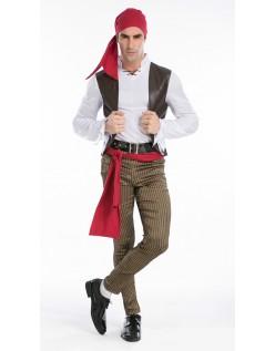 Halloween Rogue Pirat Kostume Til Mænd