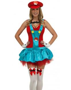 93d8c658043 Rød Blikkenslager Kostume Super Mario Kostume Kvinder